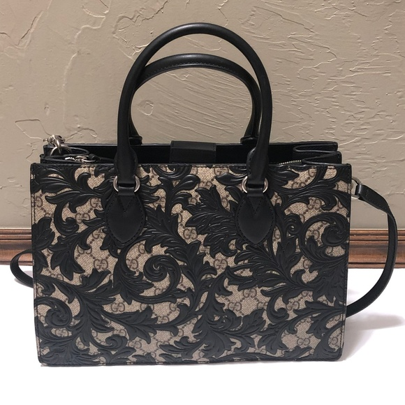 11dd05da1b4b Gucci Bags | Arabesque Top Handle Bag Black | Poshmark